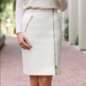 J. Crew Asymmetrical Wool Zip Pencil Skirt